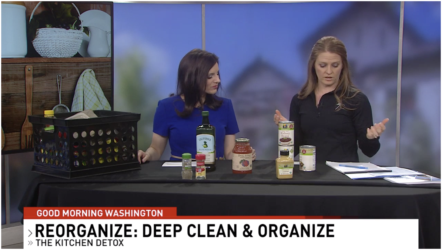 Image of Jen on Good Morning Washington