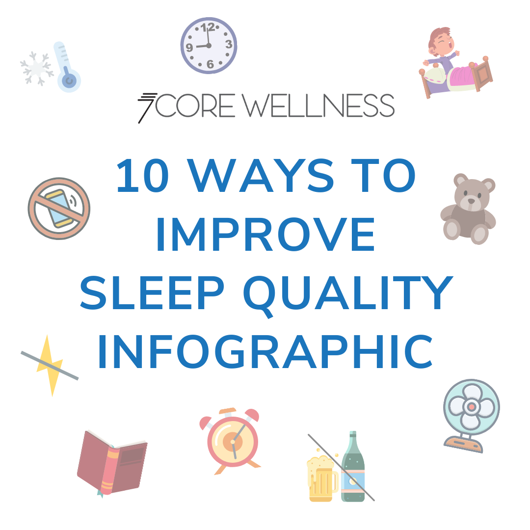 sign with 10 Ways to Improve Sleep Quality Infographic