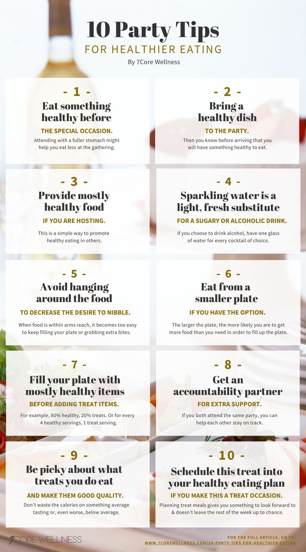 Image of 10 Party Tips Inforgraphic