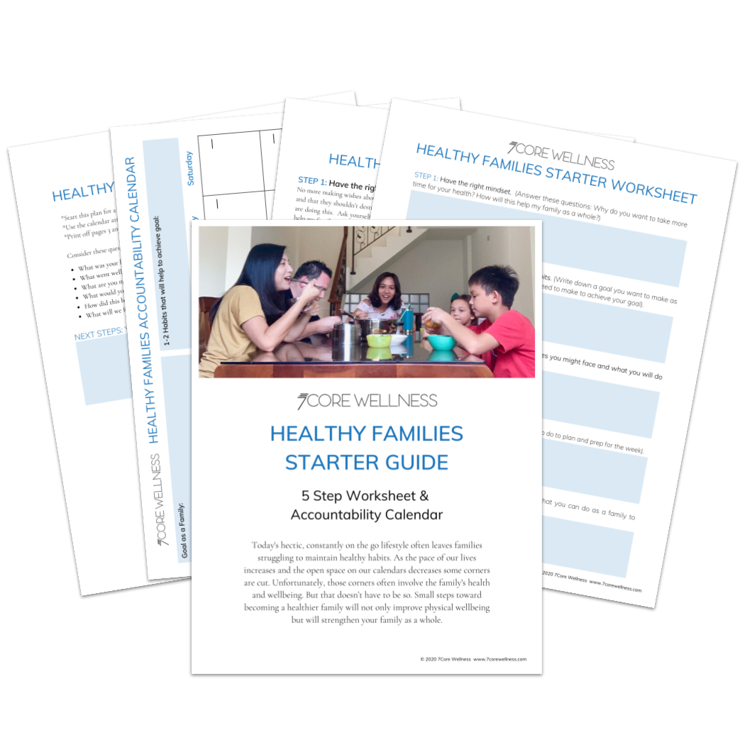 Healthy Families Starter Guide Flat Lay