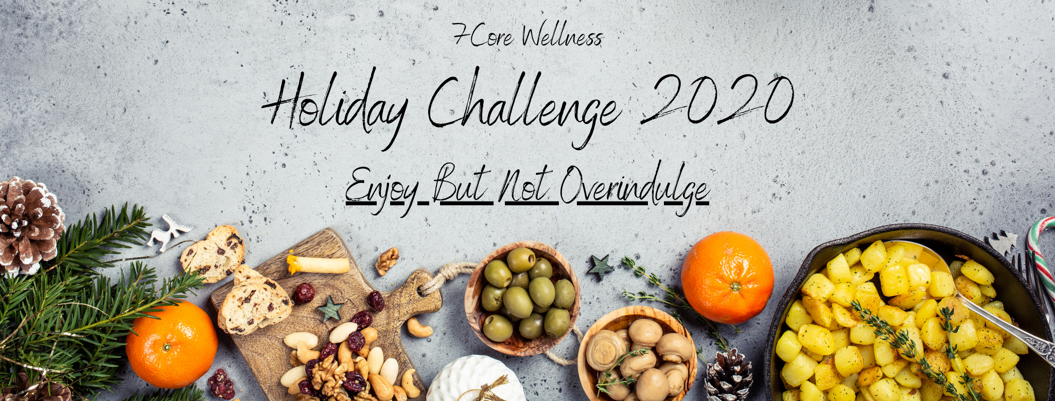 Sign: Holiday Challenge 2020 Enjoy But Not Overindulge