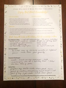 Coach Jen's Holiday Challenge Worksheet