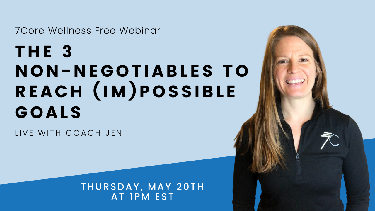 health and wellness coach with non-negotiable webinar information