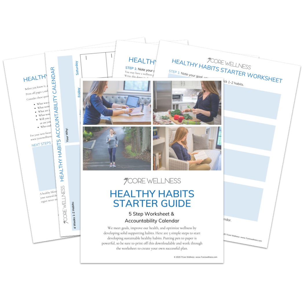 Image of the Healthy Habits Starter Guide sheets