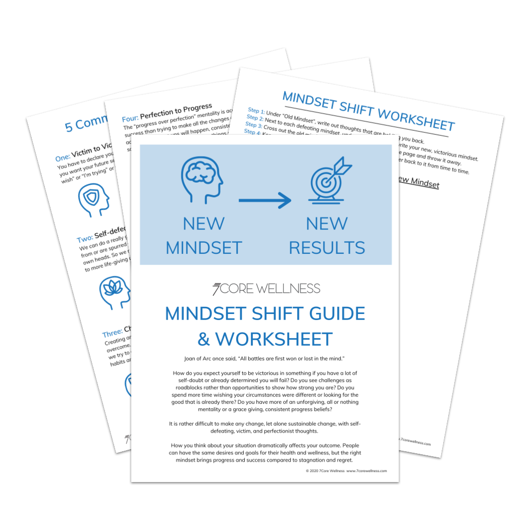 Image of the Mindset Shift Guide sheets